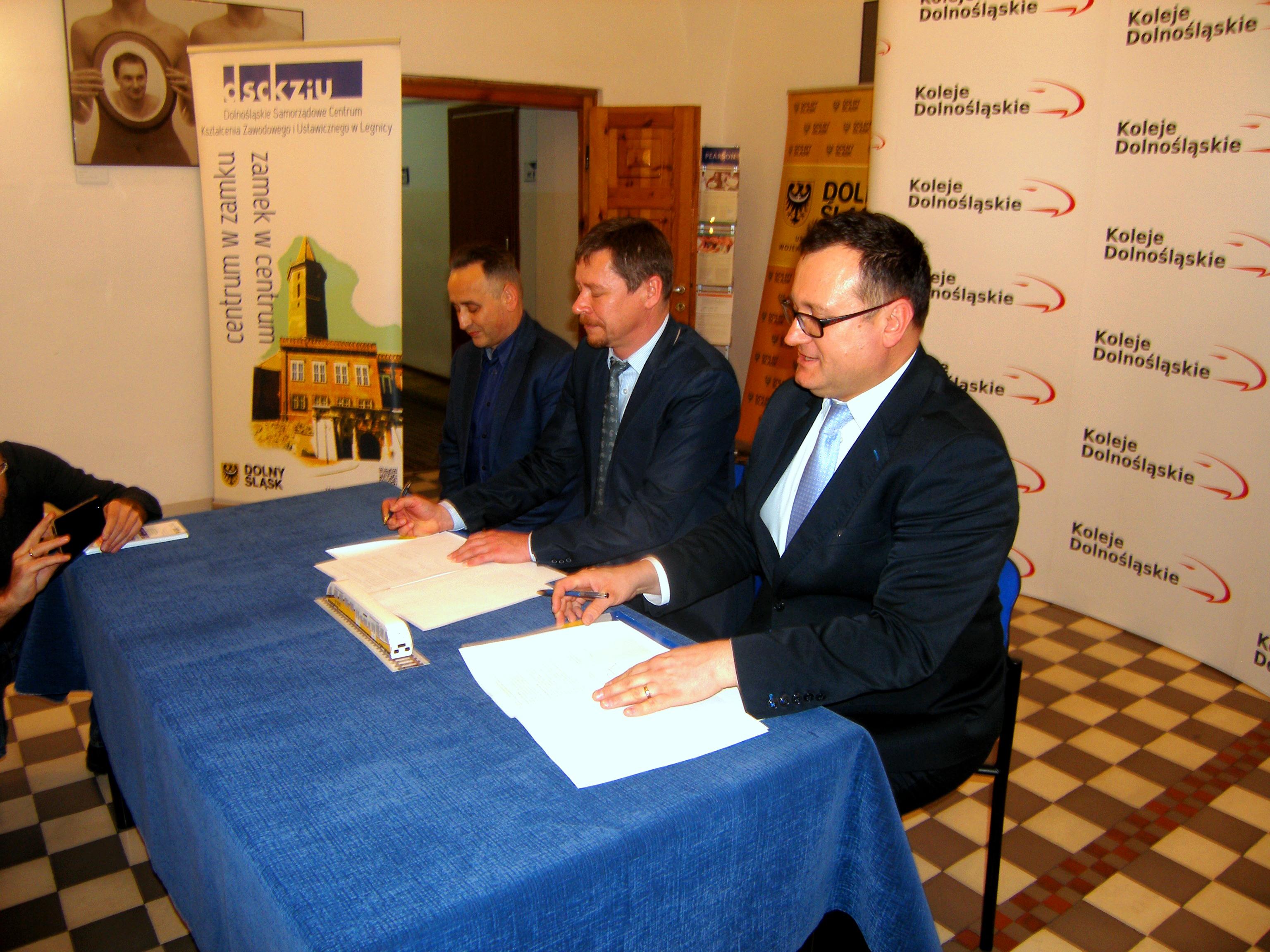 Podpisanie porozumienia z Kolejami Dolnośląskimi